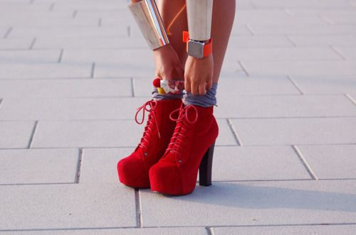 #red JC's shoes