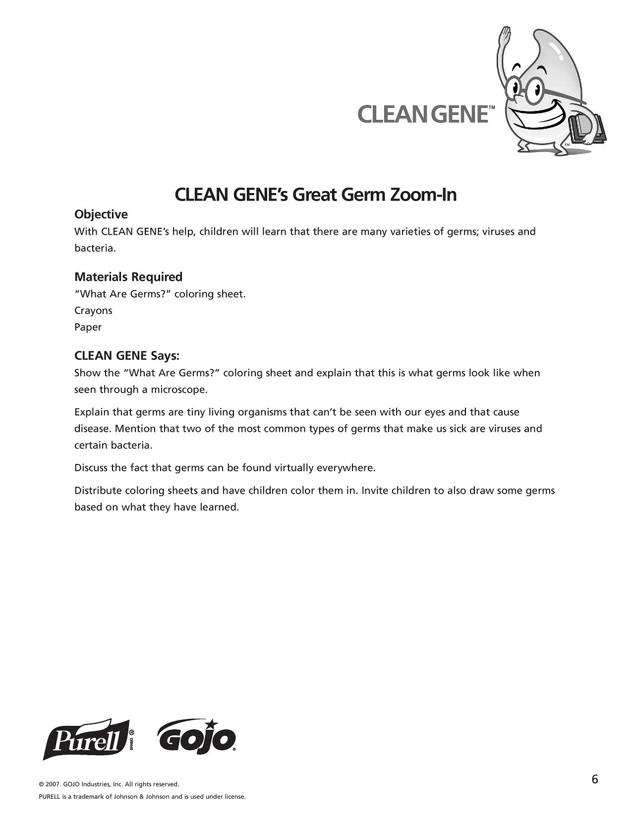 K 5 Hand Hygiene Lesson Plans And Worksheets Lesson 6 Page 2