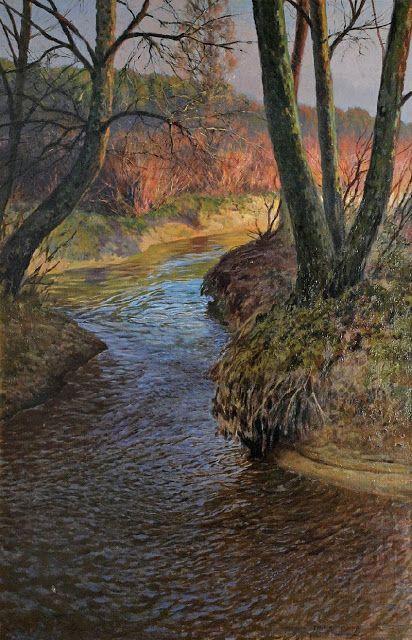 Jozef Rapacki (1871-1929), Olszanka (Strumień na wiosnę) - 1921