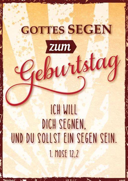 Pk Geburtstag Ich Will Dich Segnen Bolanz Verlag E K