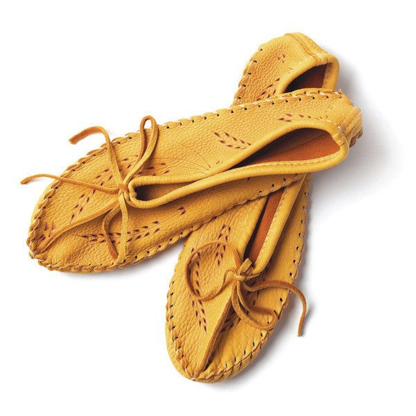 Manitobah Canadian Deerskin Leather Slipper (wheat design) - $89
