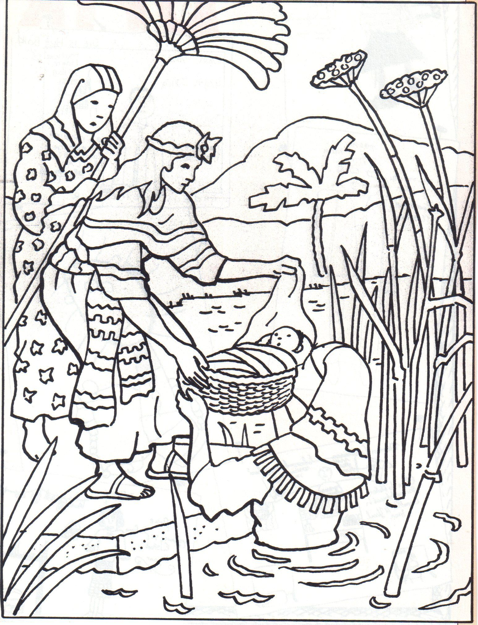Baby Moses - Coloring Page - SundaySchoolist