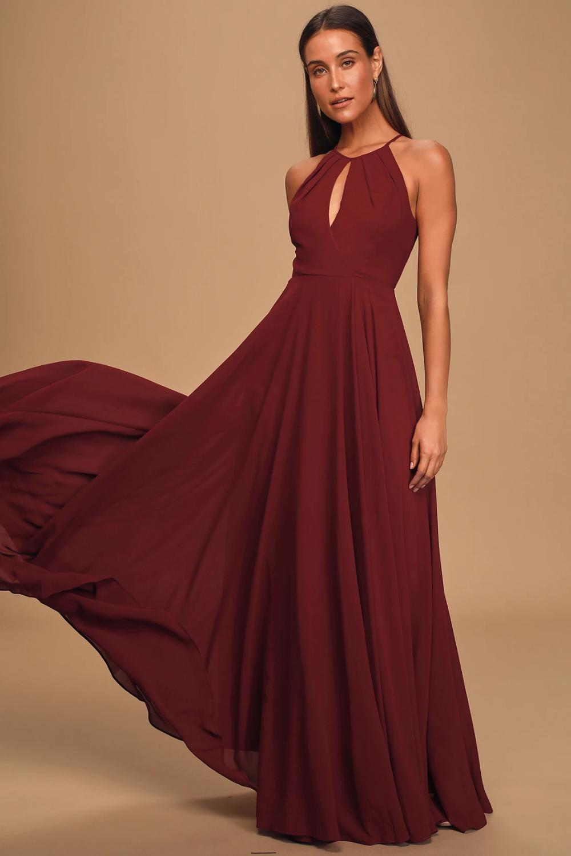 Say You Love Me Red Wine Maxi Dress Long Sleeve Lace Maxi Dress Wine Maxi Dress Burgundy Bridesmaid Dresses [ 1500 x 1000 Pixel ]
