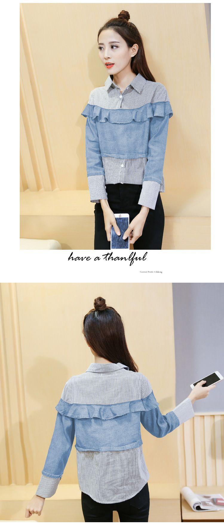 Купить женские джинсовые рубашки недорого - это просто! Джинсовые рубашки с  ТаоБао! a95f1a452ae5f