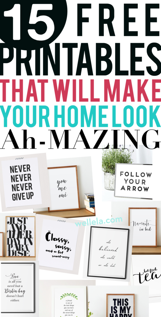 Free Home Decor Printables Free Printable Wall Art Free