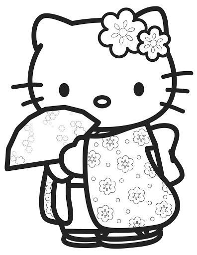 hello kitty free coloring pages # 10