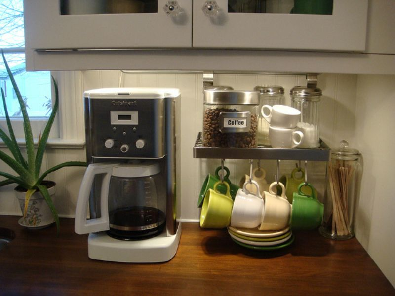 Countertop coffee station from create a perfect home for Coffee station ideas for the home