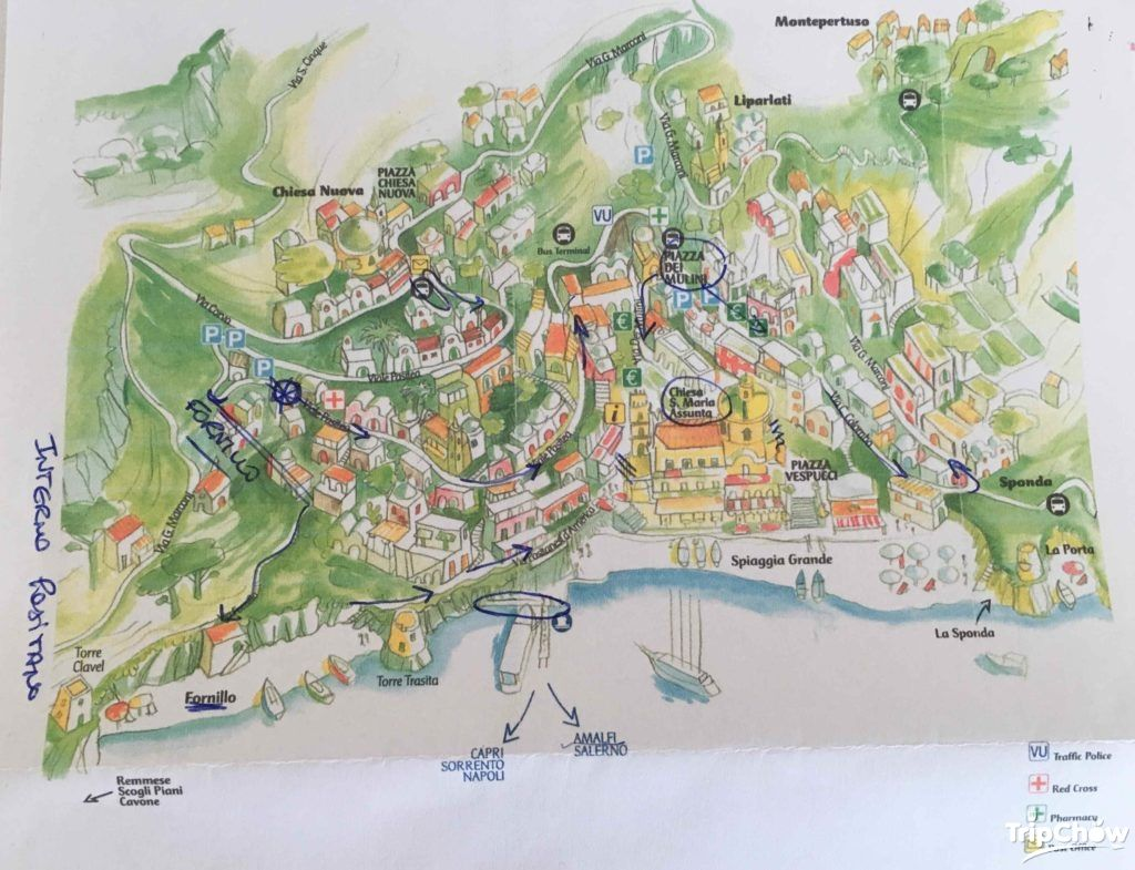map of positano amalfi coast italy. map of positano amalfi coast italy  places to visit  pinterest