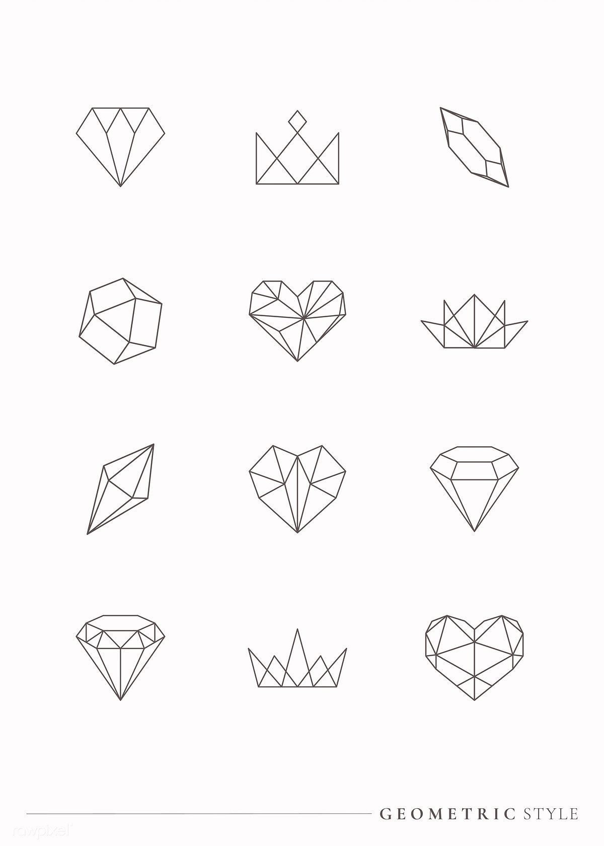 Linear geometric design element collection vectors | free image by rawpixel.com / Aew