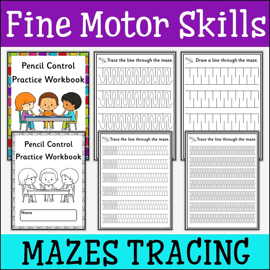 Fine Motor Skills Tracing Mazes With Images