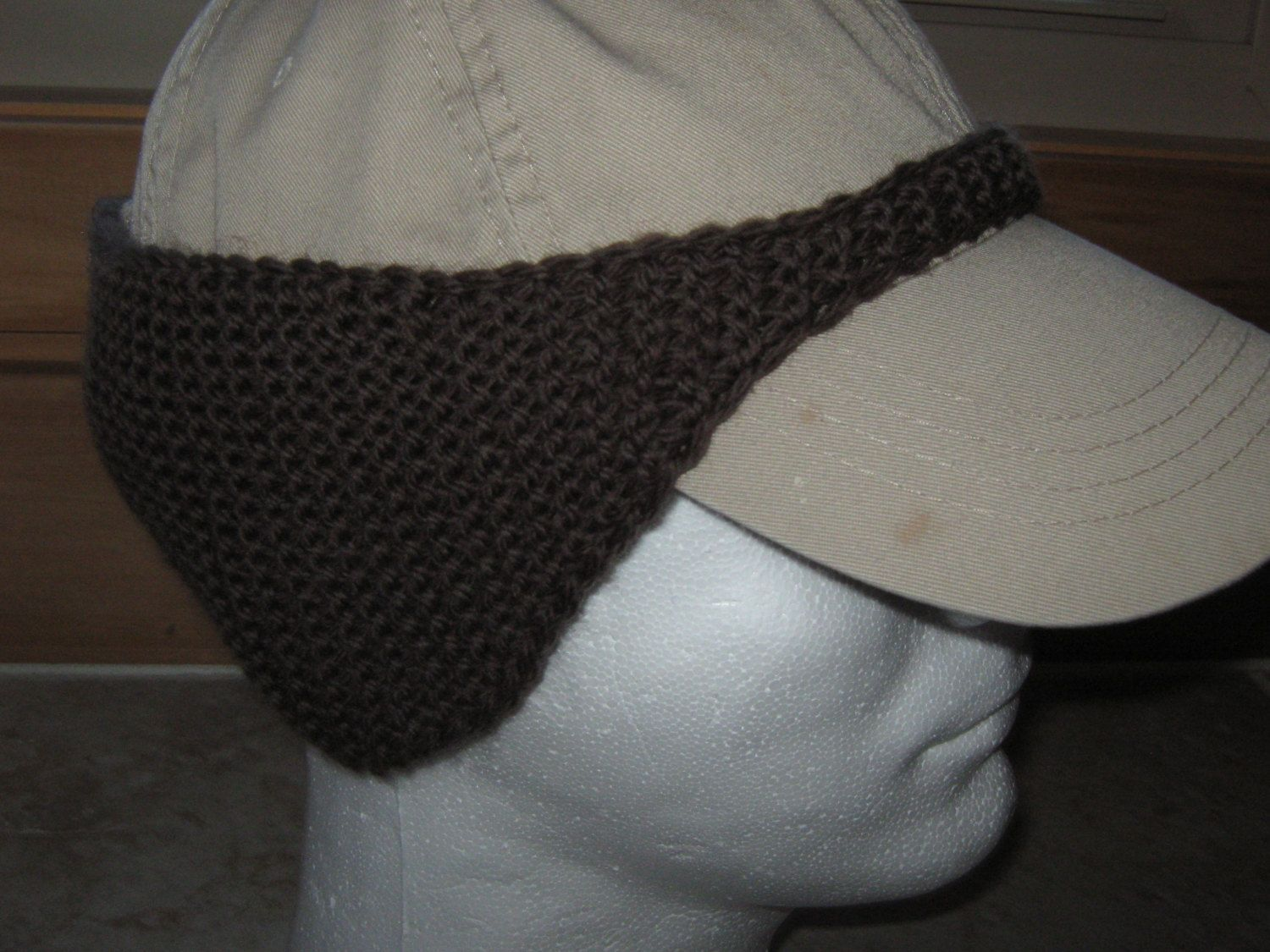Pattern for knitted Baseball Cap Ear Warmer Instant download ... 76a320943e9