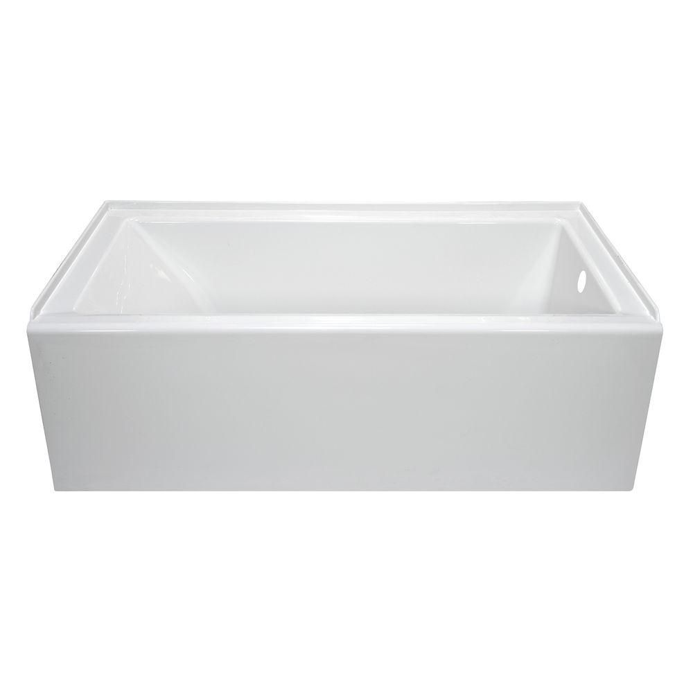 Lyons Industries Linear 5 Ft Right Hand Drain Soaking Bathtub In White Llt013260r The Home Depot Soaking Bathtubs Whirlpool Tub Soaking Tub