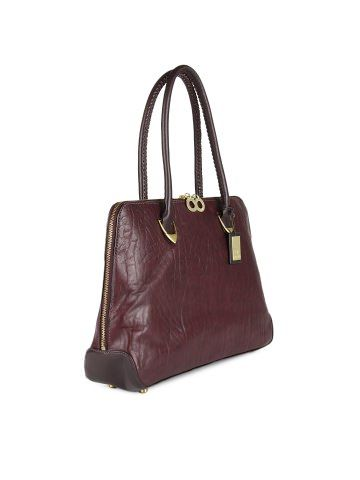 Hidesign Burgundy Yanzte 03 Handbag Myntra Inr 5995 A Structured Bag For The Corporate Professional