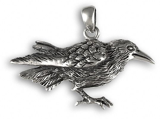 Silver raven pendant bringing messages from the realm of the spirit silver raven pendant bringing messages from the realm of the spirit the magic and the aloadofball Choice Image