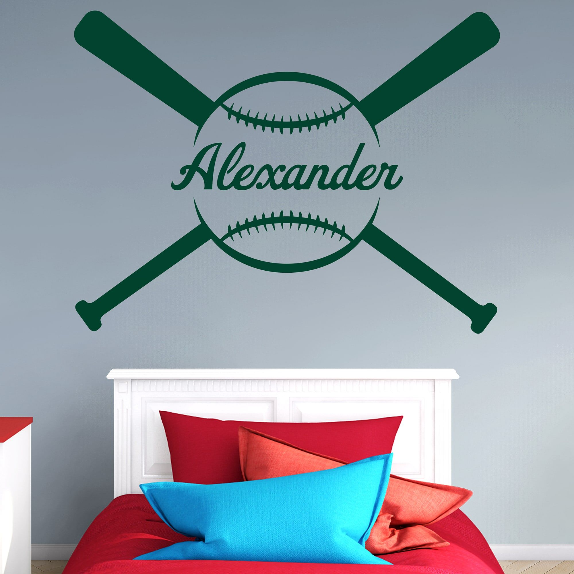 Baseball Personalized Name Giant Transfer Decal Butterfly