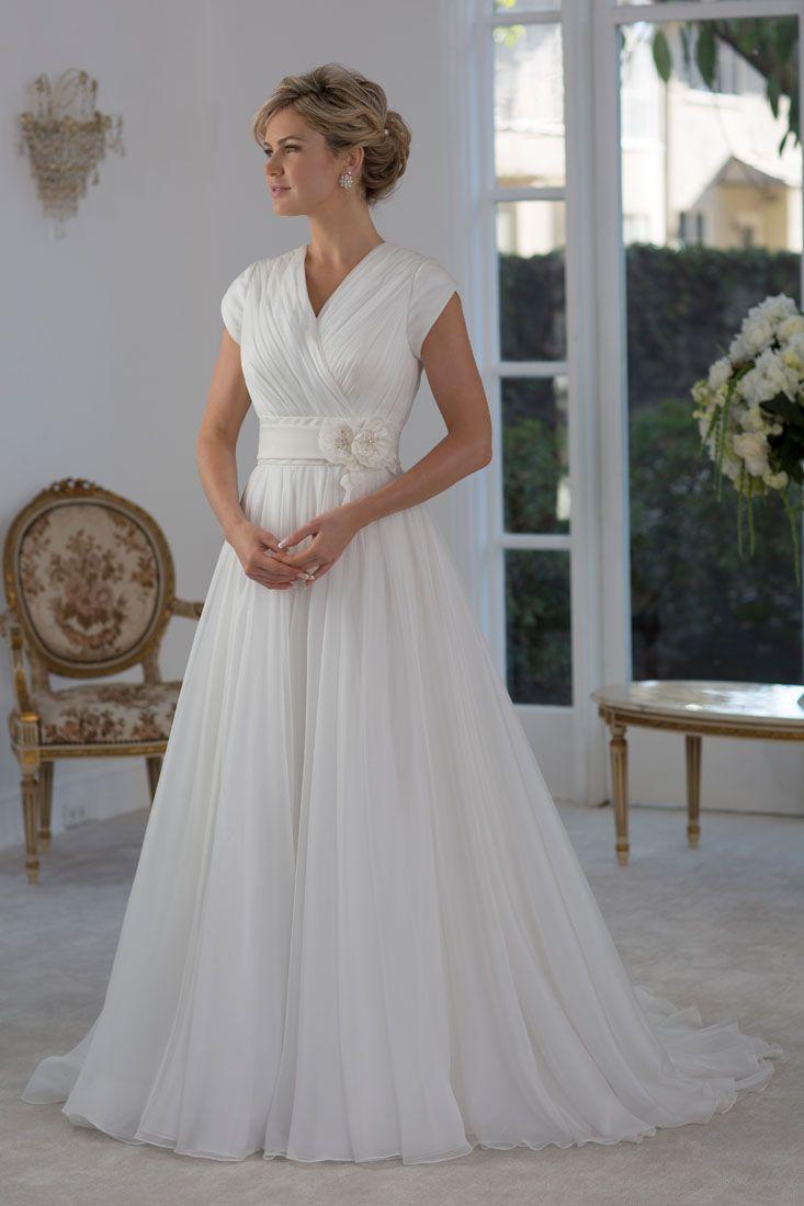Vestidos de novia manga casquillo