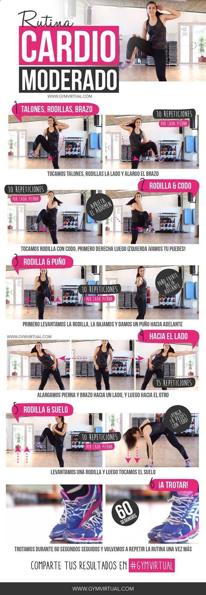 Hoy os dejo una rutina de cardio moderado paso a paso. Son ejercicios sencillitos que podéis hacer a diario o durante 4 o 5 días a la semana. Recordad que siempre, antes del cardio, es importante realizar ejercicios de tonificación de los músculos del cuerpo. En la web tenéis muchas otras rutinas de tonificación paso …