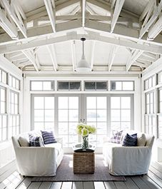 The perfect sun filled summer house style living room