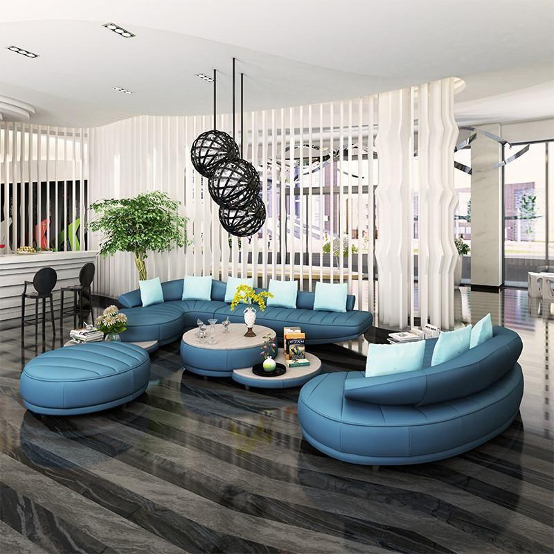 Best Living Room Furniture Curved Leather Sofa Set Living 400 x 300