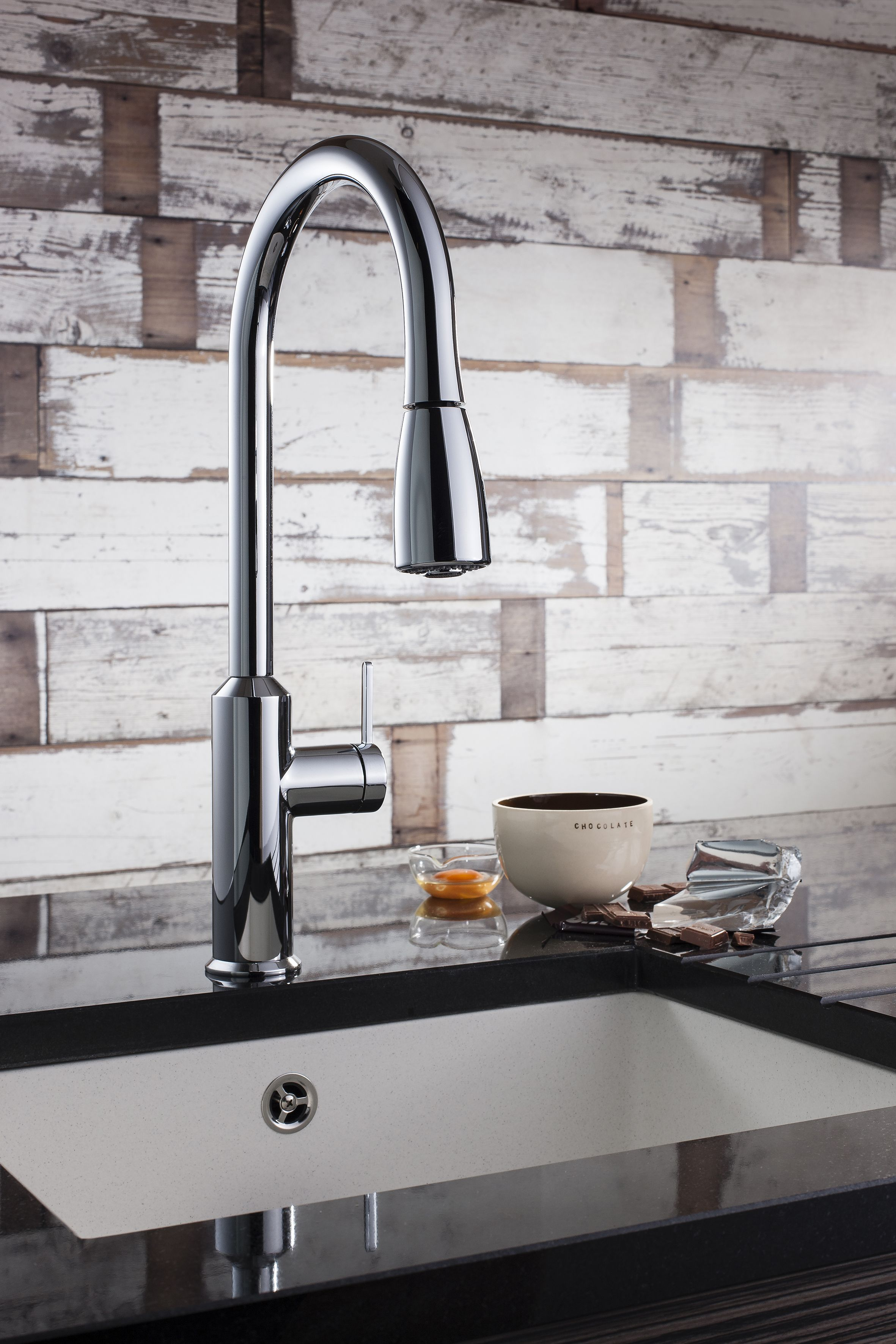 Pull out spray kitchen taps uk - Cucina Cook Side Lever Kitchen Mixer Tap With Pull Out Spray From Crosswater Http