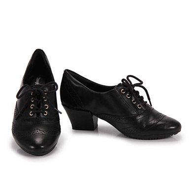 f000d78529 Sapato Oxford Feminino Comfortflex - Preto - Passarela.com Bota Oxford