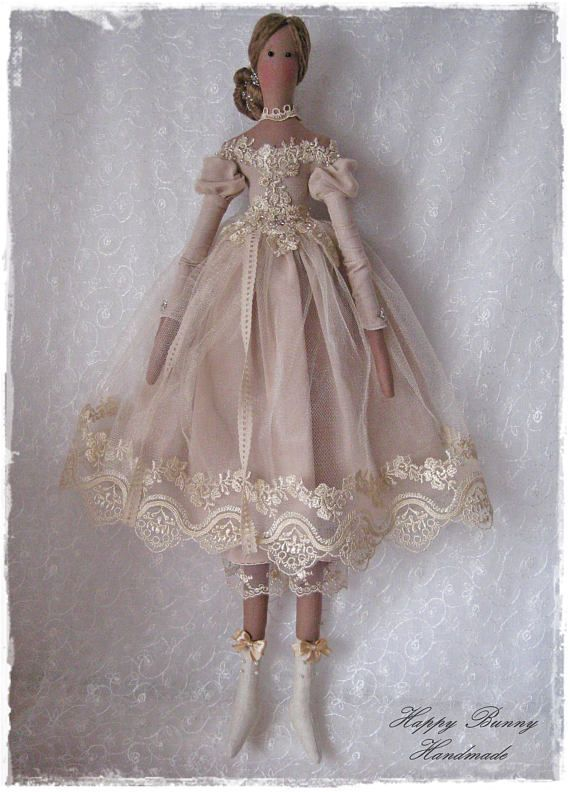 Tilda doll Tilda doll princess Handmade doll Fabric Primitive doll ...