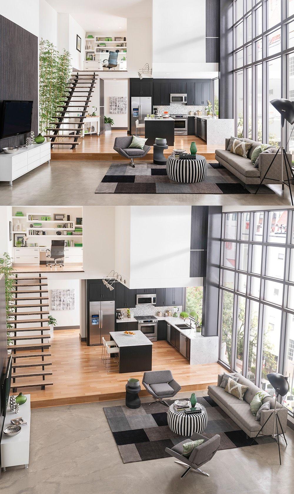 4 Duplex Lofts With Massive Windows Apartment Interior Loft