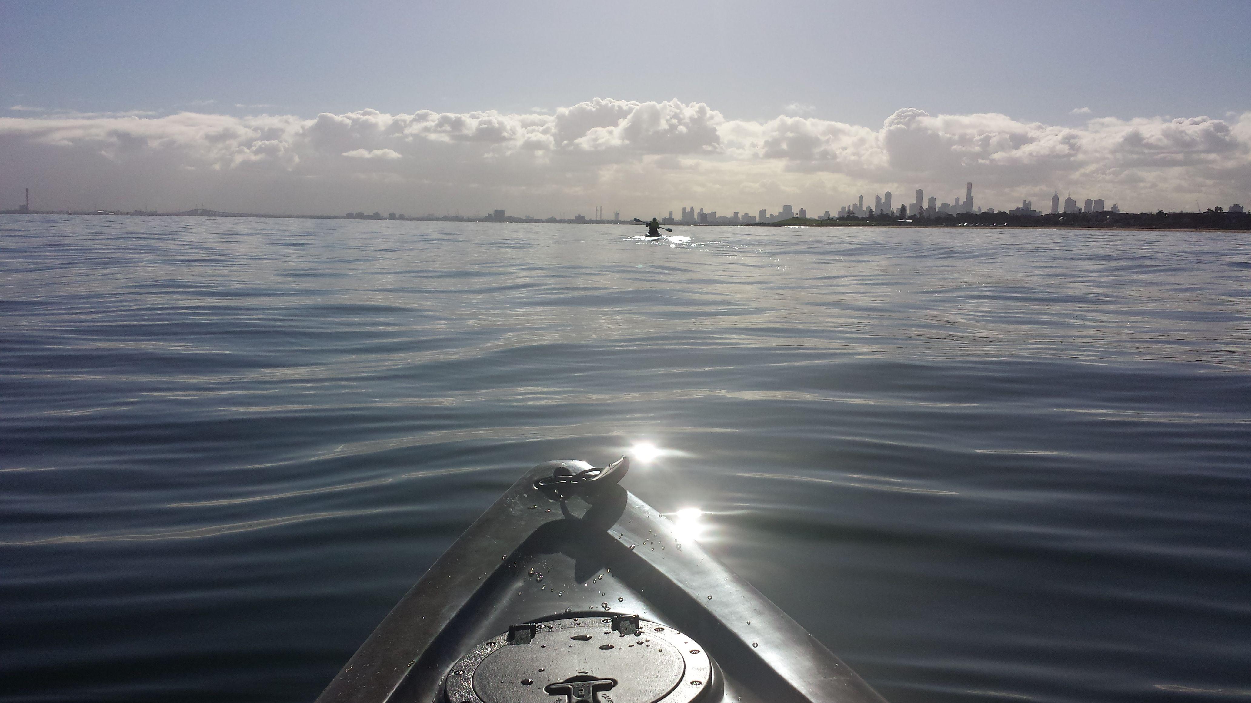 Beautiful Melbourne in Winter.  Kayaking from Brighton to Elwood.  Jun 2016.  Photo taken using a Samsung Galaxy S4. (c) Lucas Pardo.