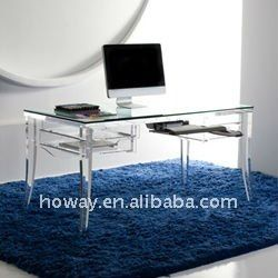 Crystal Acrylic Furniture Acrylic Computer Desk Acrylic