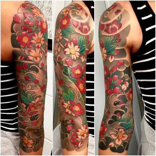 The Most Striking Japanese Cherry Blossom Tattoo Designs Cherry Blossom Tattoo Blossom Tattoo Flower Tattoo Shoulder