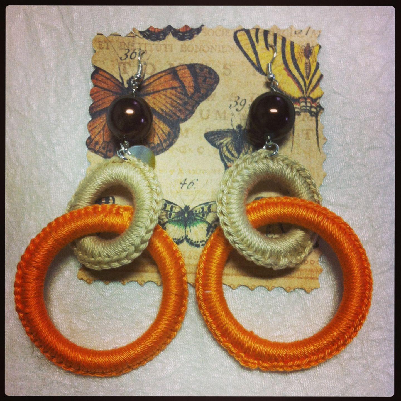 Orecchini in filo di cotone