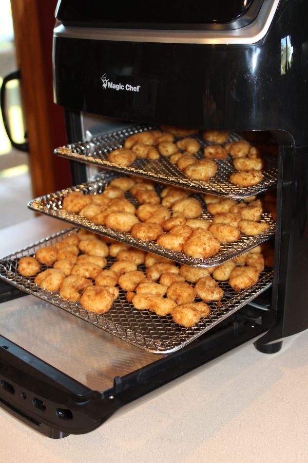 It is so easy to make crispy air fryer popcorn shrimp in