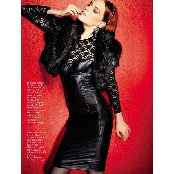 Karoline Bjornelykke by Fabio Leidi for Glamour Italia January 2013 ❤ liked on Polyvore