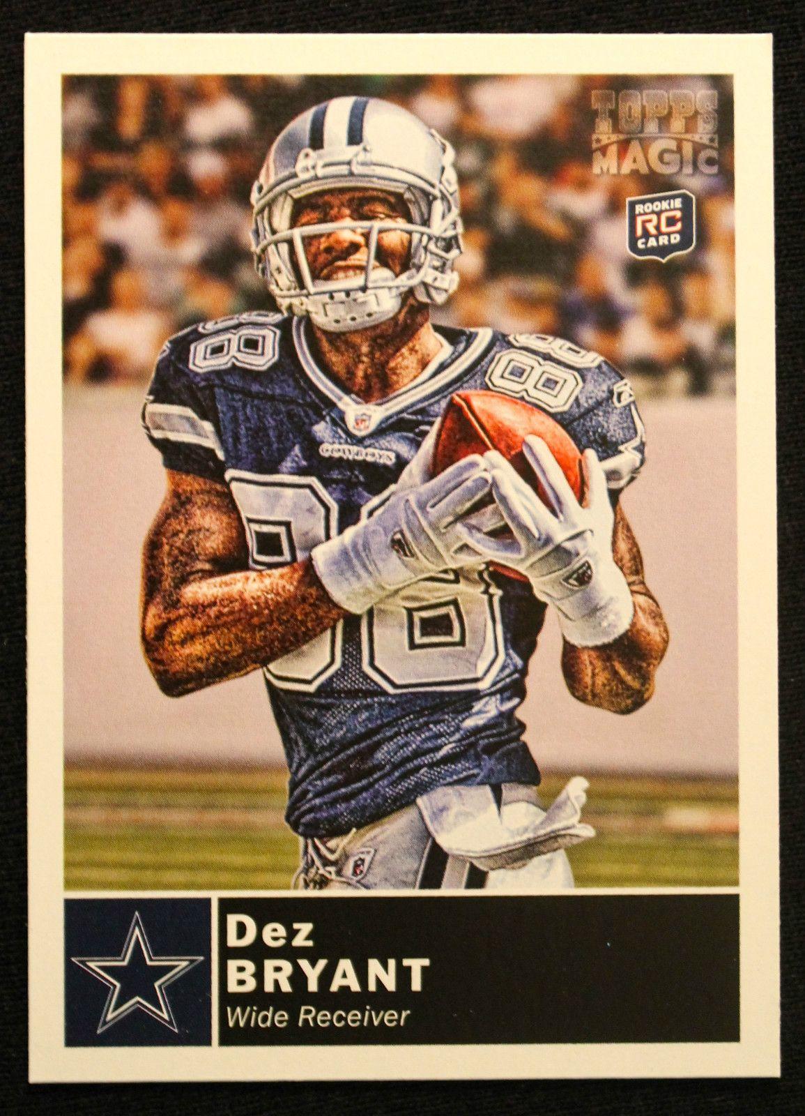 2010 Topps Magic Dez Bryant Rookie Nfl Football Card Dallas