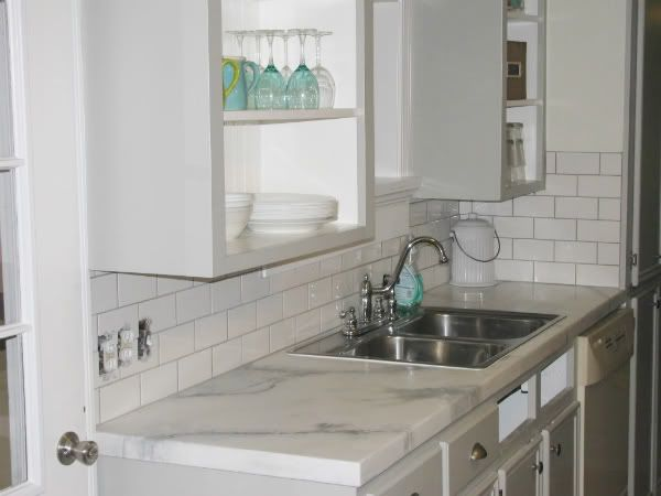Faux Marble The Lettered Cottage Kitchen Inspiration