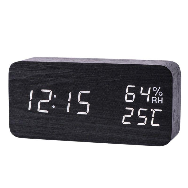Modern Led Digital Alarm Clock Human Body Induction Clocks With