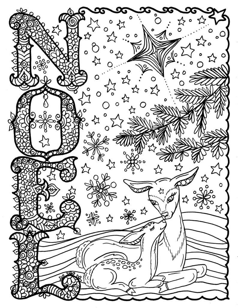 5 Pages of Christmas Coloring Christian Scriptures Bible ...