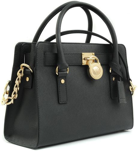 Michael Kors Black Medium Hamilton Ew 18k Bag