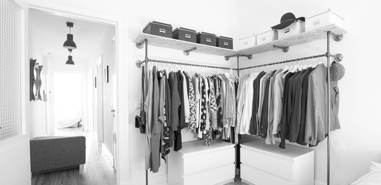 individuelle schr nke aus stahlrohr home sweet home pinterest rohre schrank und garderobe. Black Bedroom Furniture Sets. Home Design Ideas