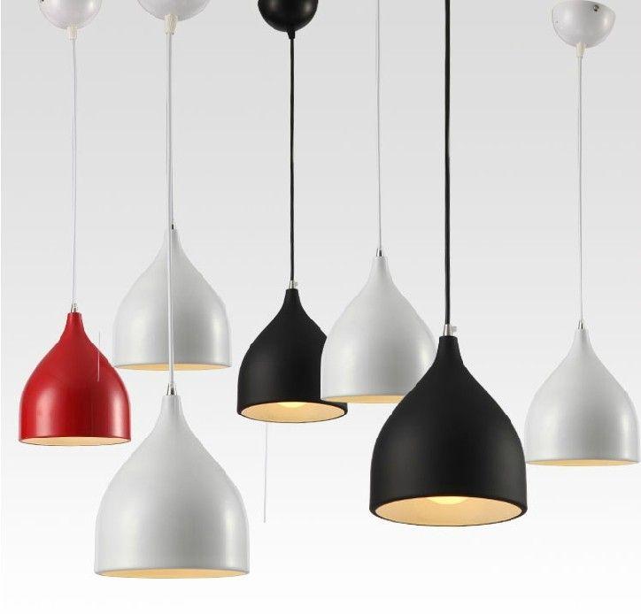 Good Modern Dining Room Pendant Light Bar Pendant Lamp Light E27 Lighting 17mm  Diameter Red / Black / White For Choice Free Shipping InPendant Li.