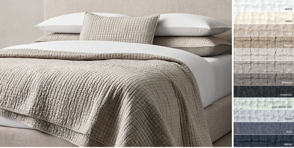 Quilts U0026 Coverlets | RH | Bedroom | Pinterest | Mountain Bedroom, Bedrooms  And Restoration Hardware