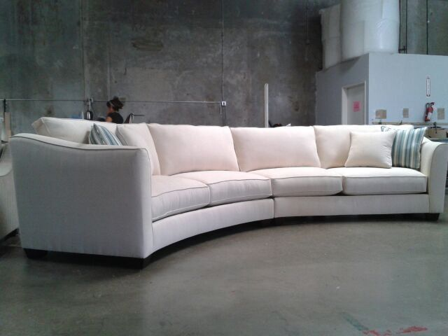 Curved Sectional Sofa Set - Rich Comfortable Upholstered Fabric - contemporary curved sofa