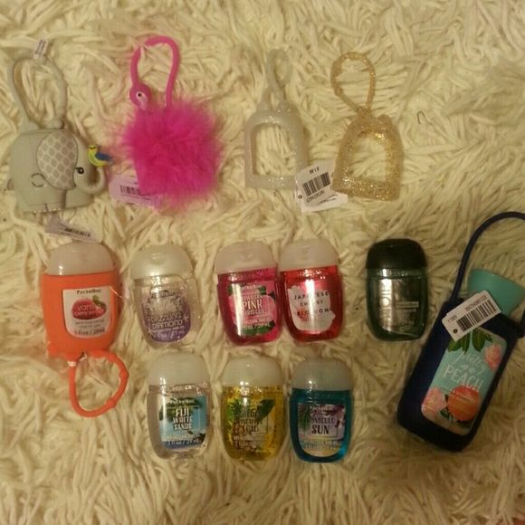 Bath And Body Works Bundle 8 Mini Hand Sanitizer 1 Travel Size