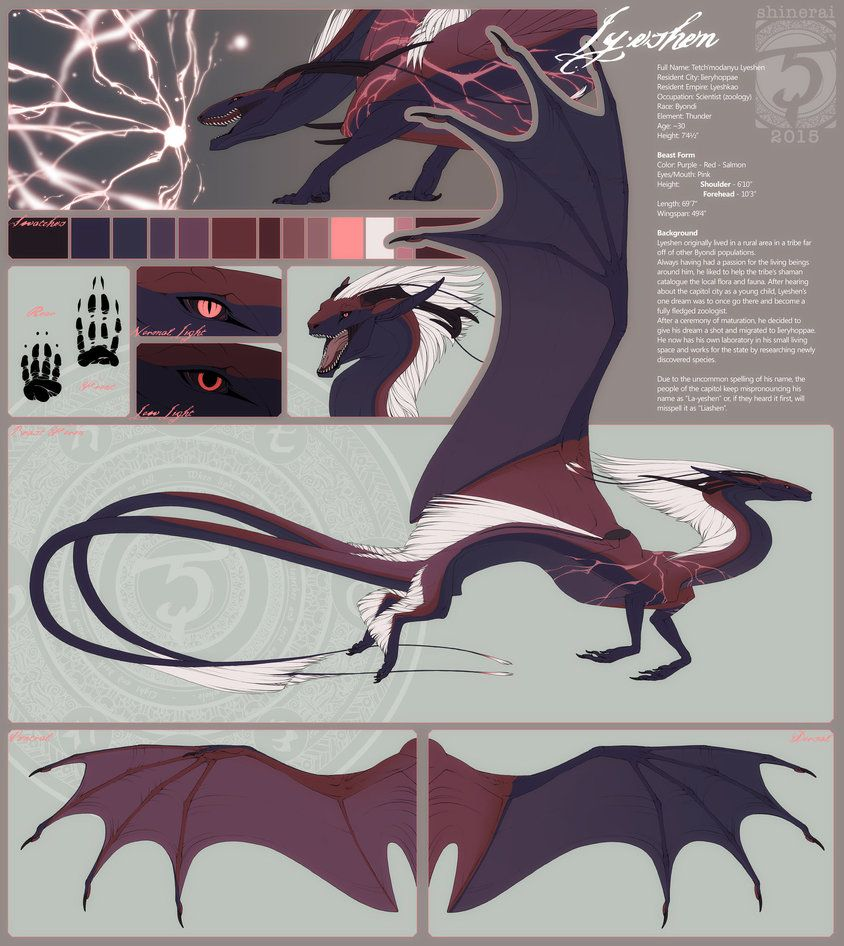 Commission: Lyeshen Reference by Shinerai on DeviantArt