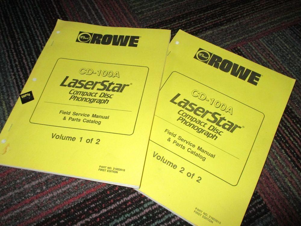 Rowe ami cd100a cd 100 laserstar service manual & parts