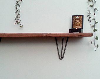 2 x hairpin leg shelf brackets various sizes discreet shelf