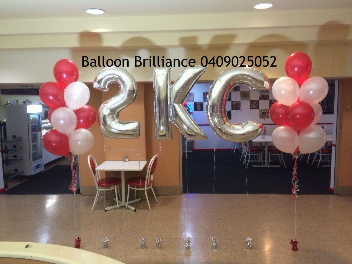 """""""Cafe, 2KC, RSL Arcade, Queanbeyan"""" balloonletters"""