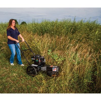 This Swisher Self Propelled High Wheel String Trimmer Gives You A