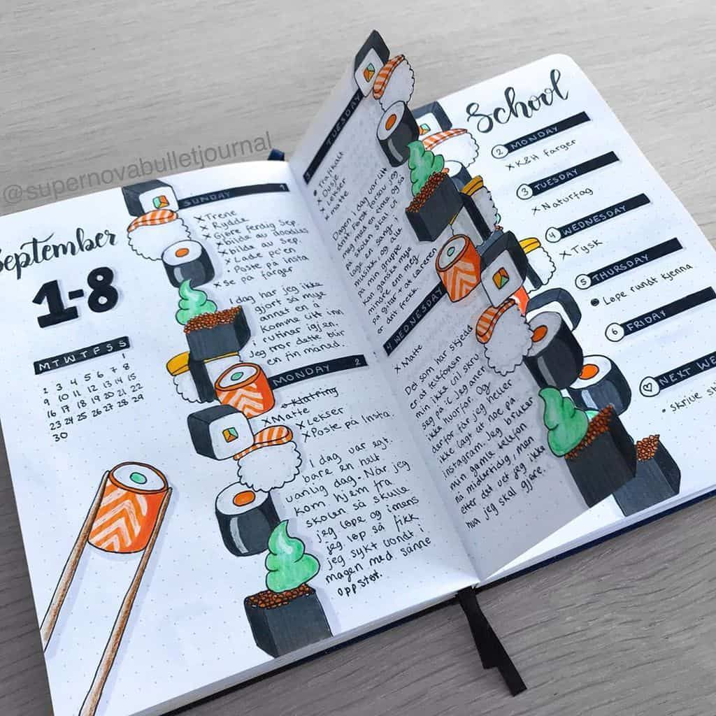 Add deliciousness to your pages with these 39 Bullet Journal spreads