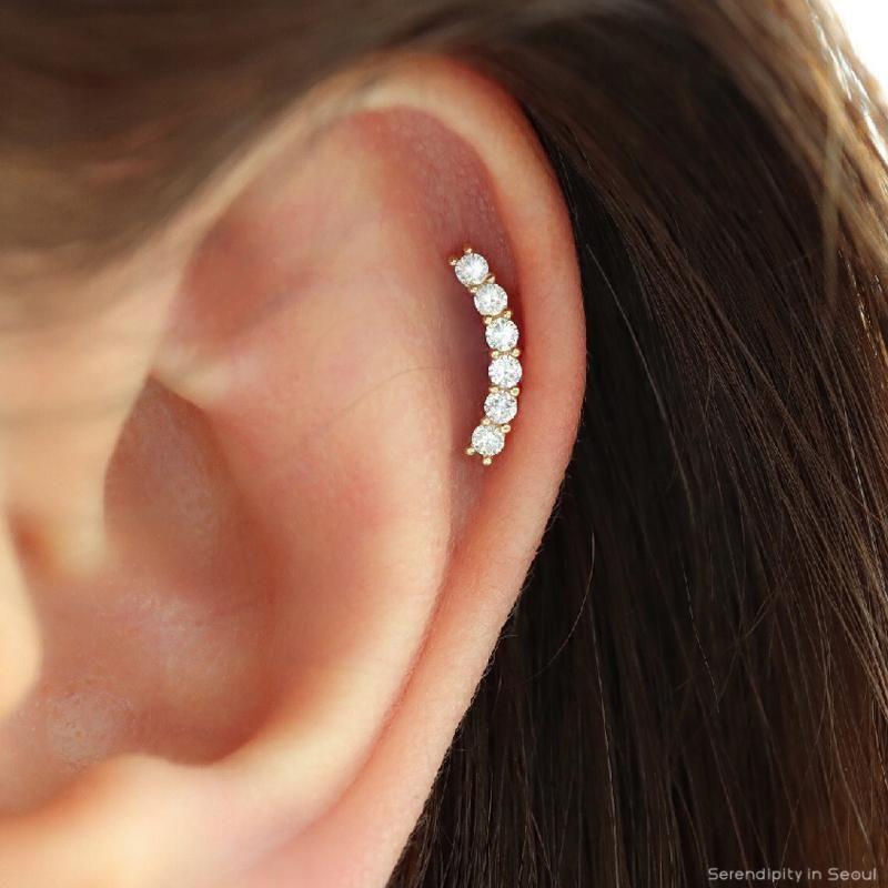 14k Rose Gold Line studs 10k Gold earrings Modern earrings Minimalist earrings 14k Yellow Gold 14k White Gold 14k Solid Gold Earrings